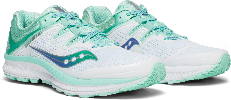 saucony Guide ISO scarpe da corsa Donna bianco turchese su Addnature f8aa45cbca2